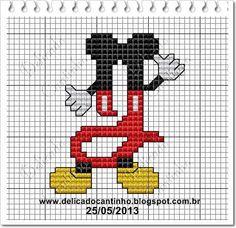 Delicado Cantinho: Monograma Mickey   J