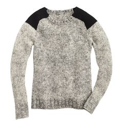 A simple, heathered pullover has a great modern yet rustic vibe.  J.Crew ($128)