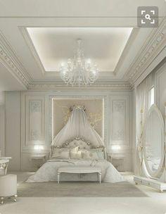 Romantic modern bedroom designs luxury bedroom ideas luxury bed rooms best luxury bedroom design ideas on . Fancy Bedroom, Master Bedroom Interior, Bedroom Decor, Glamour Bedroom, Bedroom Ideas, Silver Bedroom, Luxury Bedroom Design, Luxury Interior Design, Bedroom Designs