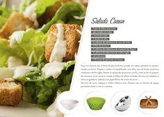 Receita de verão: Salada Caesar. Receita de salada.