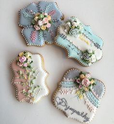 lace effect cookies Mother's Day Cookies, Fancy Cookies, Iced Cookies, Cute Cookies, Easter Cookies, Cupcake Cookies, Cupcakes, Sugar Cookies, Biscuit Cookies
