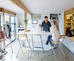 There are plenty of space-saving ideas in this small apartment - Homes To Love