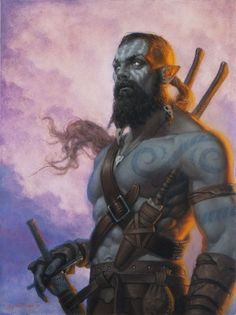 Men from Stormfall are half elven and half orcs, as they are very characteristic. They are strong like orcs and have often got athletes body, but they are more carefull and aware.
