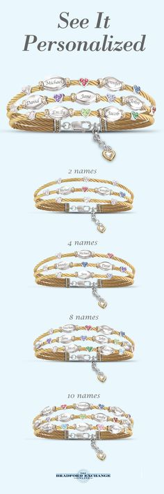 Christmas is the perfect time to honor the strength of family. That's exactly why this distinctive personalized cable-style bracelet can be custom-made for Christmas and would make a wonderful gift for Mom. You can personalize it with up to 10 Swarovski crystal birthstones and 10 engraved names, and as always, personalization is free. Your purchase is backed by the best guarantee in the business, with jewelry returns up to 120 days and free return shipping.