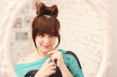 Hair bow style: coque laço