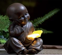 Solar Little Buddha | Ornaments & Lighting | Garden And Outdoor | homeshopping.24ace.co.uk