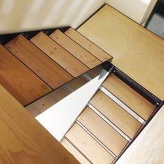 Minimalistic stair design by boligarkitektur.dk