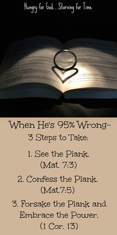 What do we do when it's all his fault? How do we deal with our husbands' problems? Double click on the image to read the 5-minute devotion, Hungry for God: When He's 95% Wrong - How to Improve a Marriage