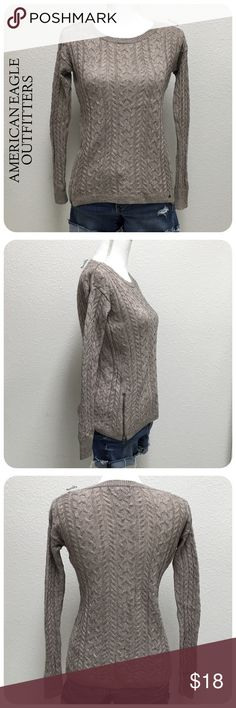 "🎉10% off | AEO knit sweater PRELOVED in good condition. minor wear, some pilling, nothing noticeable. comfortable knit sweater with zippered detail.  details ∙ extra small ∙ 22.5"" length ∙ 17"" bust  ∙ 21"" sleeves  materials ∙ 55% cotton ∙ 25% acrylic ∙ 15% nylon ∙ 5% wool  due to lighting- color of actual item may vary slightly from photos.  please don't hesitate to ask questions. happy POSHing 😊  💰 use offer feature to negotiate price on single item 🚫 i do not trade or take any…"