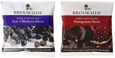 Brookside Dark Chocolate Covered Fruit Two Flavor Snack Packs 30 Count