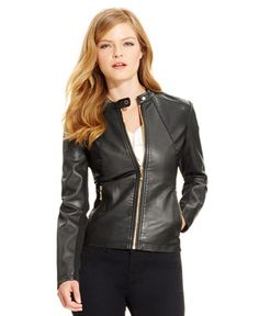 99.00$  Buy here - http://viwwy.justgood.pw/vig/item.php?t=k8niao3264 - Faux-Leather Moto Jacket, Black