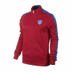 29a838093 Women's Nike USA Auth N98 Track Jacket - University Red Usa Soccer Team, Team  Usa