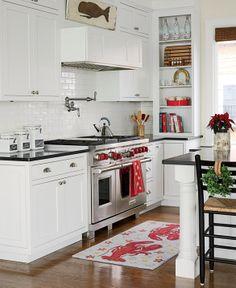seaside family home kitchen #nautical #coastal