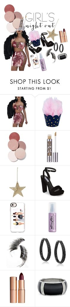 """""""Night out"""" by heidibartholdy on Polyvore featuring LunatiCK Cosmetic Labs, Urban Decay, Steve Madden, Casetify, Beauty Is Life, Bling Jewelry and Charlotte Tilbury"""
