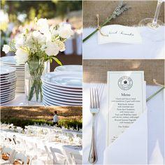Rustic Elegant Wedding Dinner