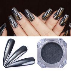 $1.59 0.5g BORN PRETTY Mirror Black Nail Powder Shining Manicure Nail Art Chrome Pigment Glitter Dust - BornPrettyStore.com