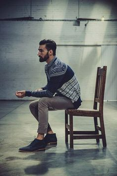 Surprisingly amazing sweater worn by a bearded man. Also Learn How to style your Beard in 5 Easy Steps — Mens Fashion Blog - The Unstitchd