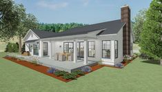 Plan Stylish Farmhouse Ranch House Plan Plan Stylish Farmhouse Ranch House Plan,lake houses This is it! Covered patio Extended front porch Fireplace in middle Man cave-guest room with bathroom Expand downstairs room. House Plans One Story, Ranch House Plans, Rambler House Plans, Farmhouse Plans, Farmhouse Style, Modern Farmhouse, Puerto Rico, Porch Fireplace, Building A Porch