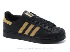superstars adidas black and gold