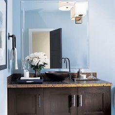 Blue Brown Painted Bathroom Brown Bathroom Sets Bathroom Design Ideas