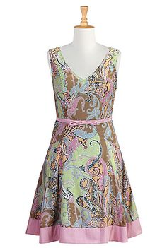 I <3 this Paisley print banded cotton dress from eShakti.  I can't wait until it arrives!