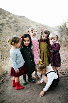 The always perfect Free Babes Holiday collection just launched and we are  over the moon in love with everything! Luxe velvets, classic plaids, and  beautiful satins! What more could you ask for?! Take a look at the AMAZING  photos and head over to Free Babes to shop it all!   Photos by  Simply Suzy Photography  Mabo dot romper and top | Mabo green plaid dress | Soor Ploom winter wheat  dress over the buffalo check top  | Ewmccall red and grey striped pinnafore  and turtle neck | Holley and…