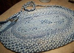 Recycled jeans braided rug!
