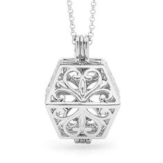 """Limited Edition - Perfumed Jewelry """"Eternity"""" Solid Rose Gold Pendant - fragrance necklace - unique and modern square/cube design. Rose Gold Pendant, Sterling Silver Pendants, Silver Jewelry, Unique Necklaces, White Gold, Pj, Jewellery, Traditional, Schmuck"""