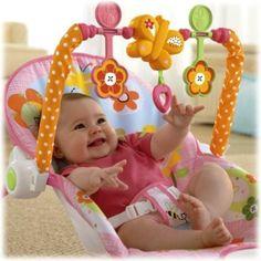 Infant-to-Toddler Rocker Sleeper Pink Bunny Pattern