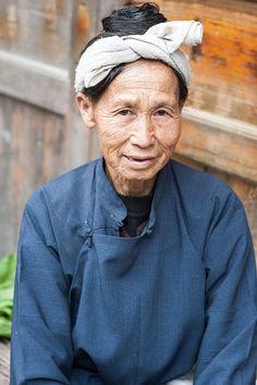 A beautiful lady in Zhaoxing Village, Guizhou Provence, China.