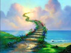 Stairway to Heaven Fantasy art for sale at Toperfect gallery. Buy the Stairway to Heaven Fantasy oil painting in Factory Price. Stairway To Heaven, Jim Warren, Empathetic People, Led Zeppelin Poster, Law Of Karma, Soul Contract, Affirmations Positives, Saint Esprit, Paint By Number Kits