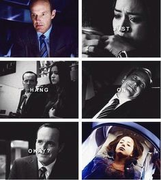 Geah. Skye and Coulson from T.R.A.C.K.S. on Agents of SHIELD.
