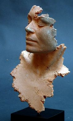 Philippe Morel - marie - needs no hair just the beauty of a fabulous expression on a face and movement from the pose Sculpture Head, Human Sculpture, Sculptures Céramiques, Ceramic Figures, Ceramic Art, Terracota, Contemporary Sculpture, Art Plastique, Face Art