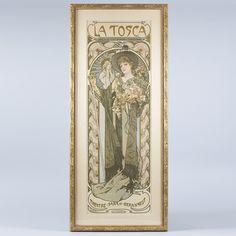 Times of the Day Alphonse Mucha Evening Keilrahmen-Bild Leinwand Jugendstil