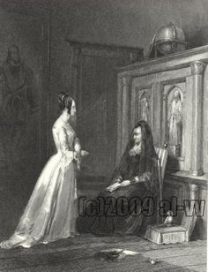 Girl Being Scolded By Mother Vickers Antique Print - Diggit Victoria Art Supply Stores, Old Art, Antique Prints, Victoria, Antiques, Artist, Painting, Image, Beautiful