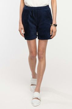 Objects Without Meaning Ruby Suede Short, $390, available at Need Supply.
