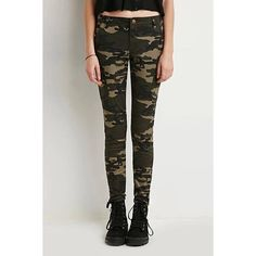 Yoins Yoins Camo Trousers ($33) ❤ liked on Polyvore featuring pants, black, black camouflage pants, high waisted camo pants, black zipper pants, highwaist pants and zip pants