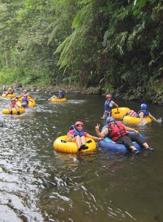 Tubing on Arenal River - from our Costa Rica family vacation packages