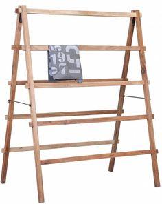 Handig! Dit houten wasrek/droogrek van HK-living. Het wasrek is inklapbaar en gemaakt van mango hout. Das nog 's wat anders dan al dat lelijke plastic gedoe. Nu