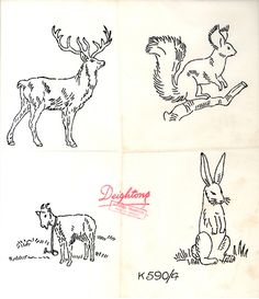 DESIGN: Wee Animals - Deighton's K5904 animals.