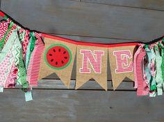 UNA sandía primer cumpleaños decoraciones fiesta moña