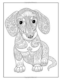 Dog Coloring Book: An Adult Coloring Book for Dog Lovers (Animal Coloring Books) Dog Coloring Page, Unicorn Coloring Pages, Free Adult Coloring Pages, Cute Coloring Pages, Mandala Coloring Pages, Animal Coloring Pages, Printable Coloring Pages, Coloring Books, Free Coloring