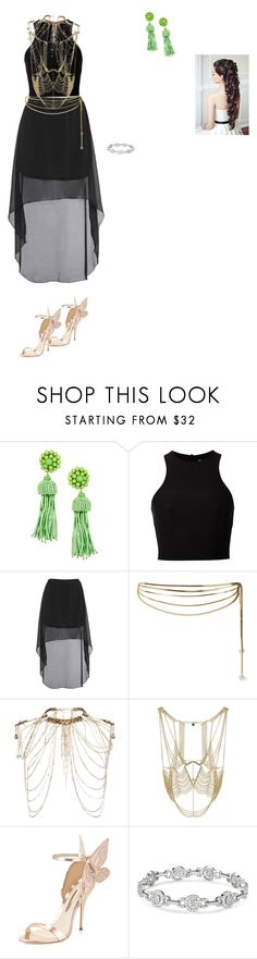 """Carmen Chameleon Legendary Games"" by cynthiatorres-ii ❤ liked on Polyvore featuring T By Alexander Wang, Rosantica, Erickson Beamon, BCBGMAXAZRIA and Sophia Webster"
