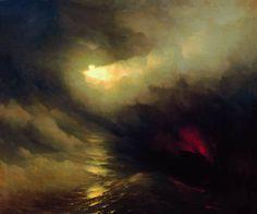 La creazione del mondo.  Dipinto di Ivan Aivazovsky.