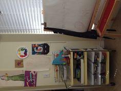 G's Art Space (5yo) in kitchen nook