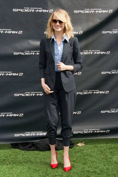 Louche Suiting on Emma Stone