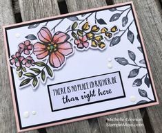 Stampin Up Petal Palette Memoeris and More Stampin' Blends Anytime Card Michelle Gleeson Stampinup SU