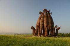 "Nikolay Polissky's collaborative ""Beaubourg"" (2013) - rural Russian village"
