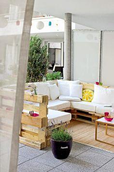 Cosas que puedes hacer con un palet. Especial terrazas