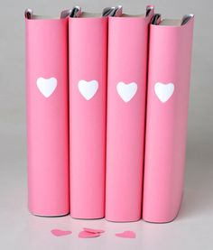 Easy heart-punched book jackets -- for a Valentine's Day gift or journal cover.